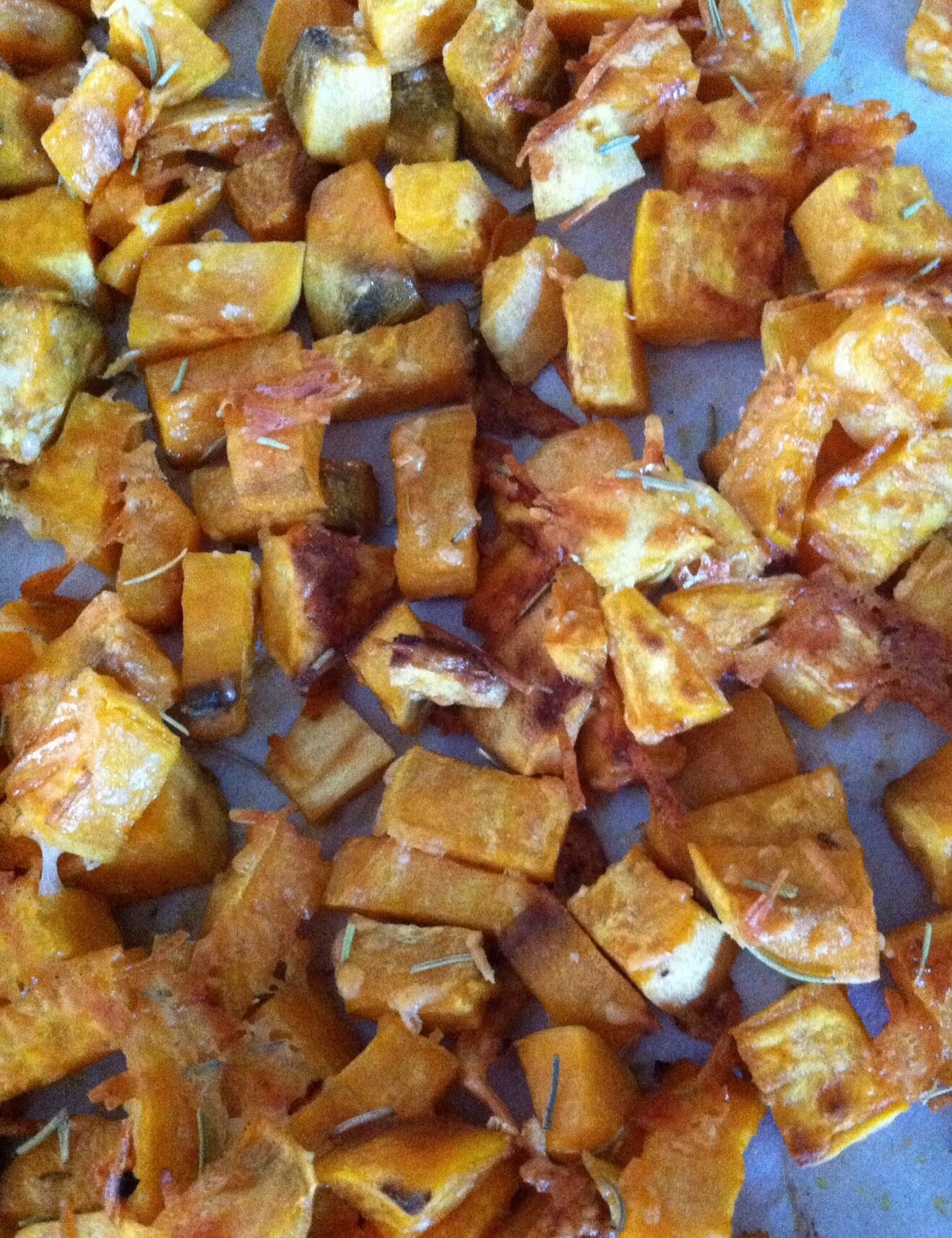 Parmesan Garlic Sweet Potatoes