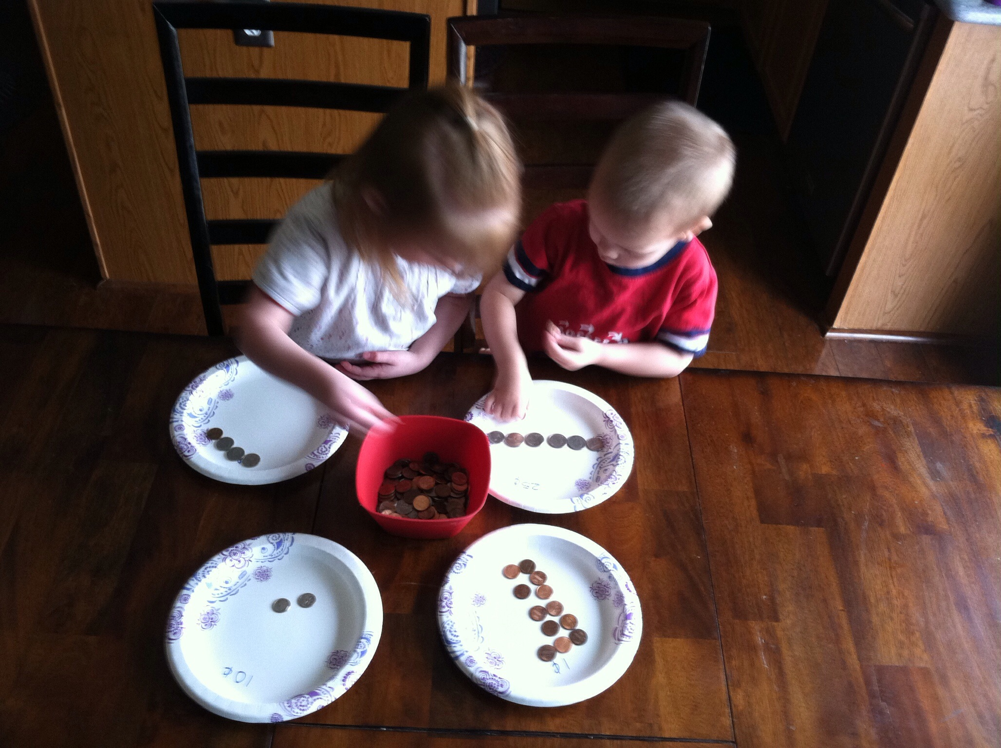 Coin Sorting Kid Activity