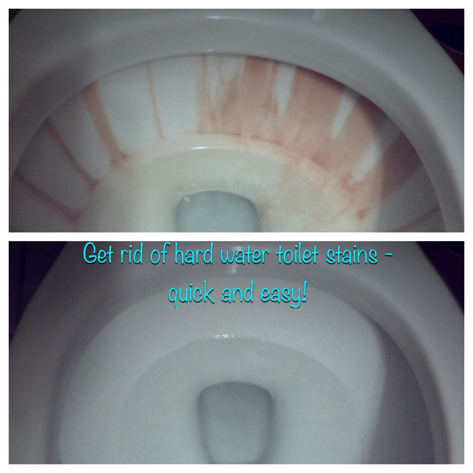 Get rid of hard water toilet stains - quick and easy! -