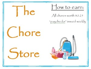 chore store sign