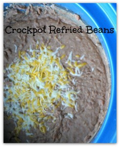 easy recipe for crockpot refried beans