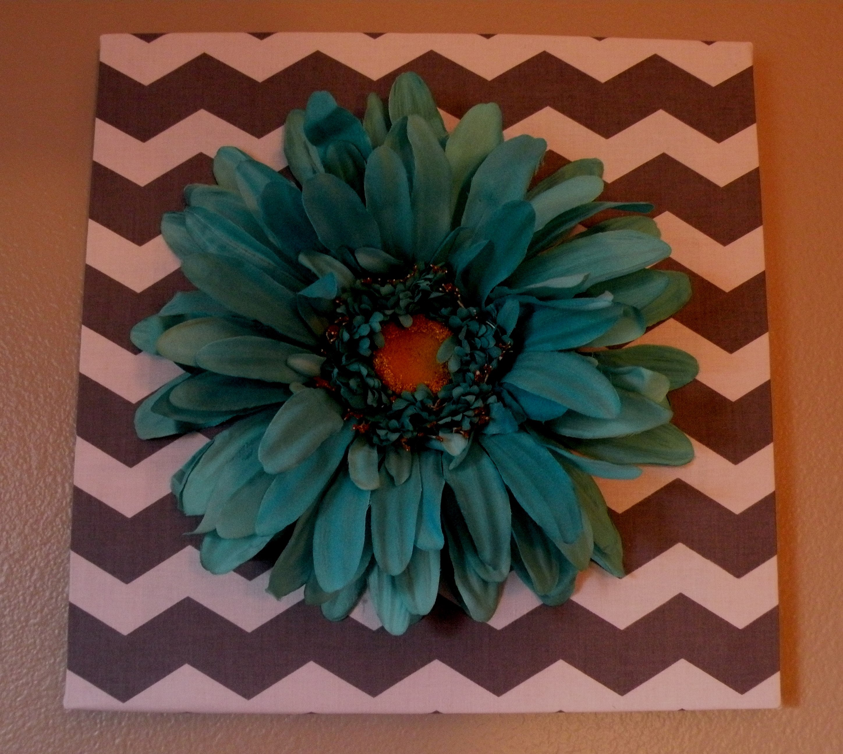 Teal and Gray Wall Decor