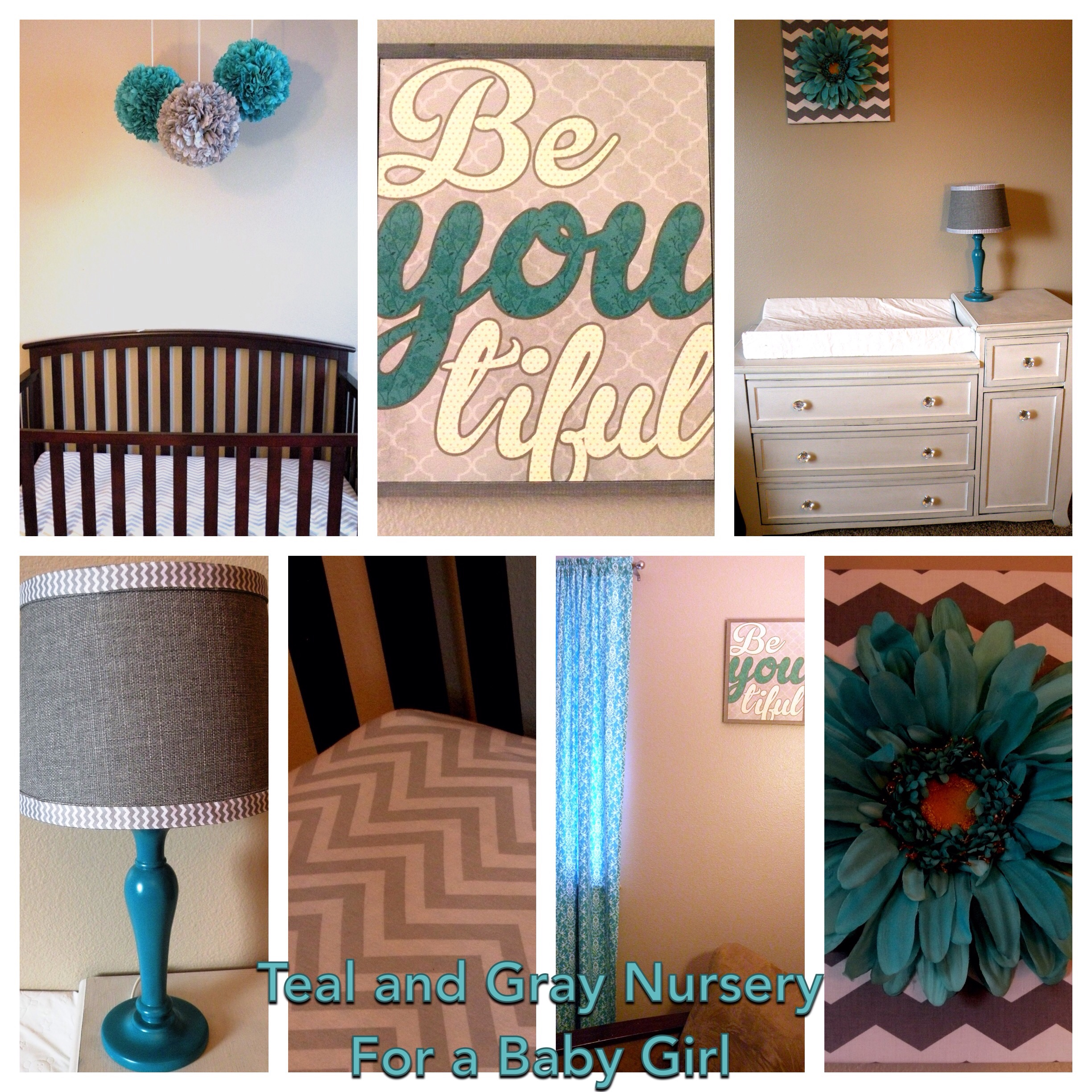 Teal and Gray Nursery for a Baby Girl