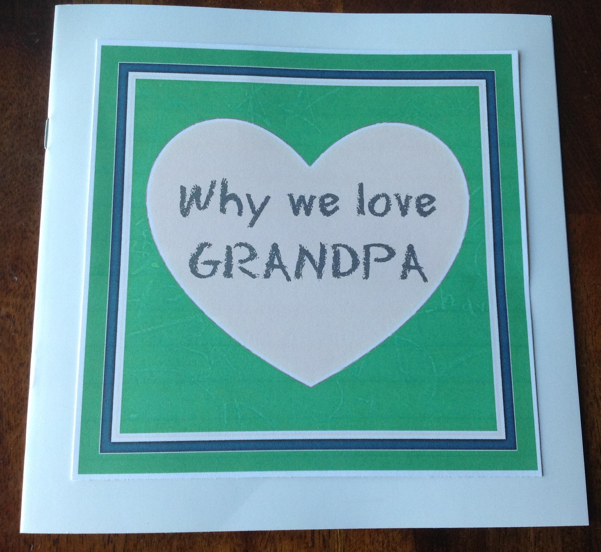 Father's Day gift idea for Grandpa