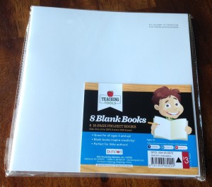 Target pack of blank books