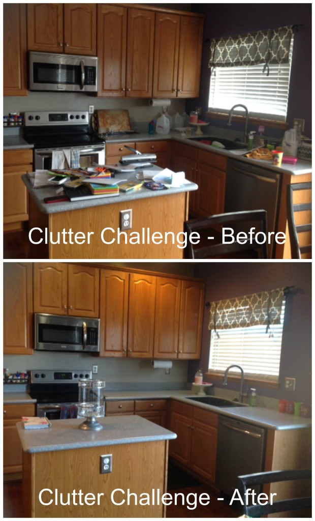 Clutter challenge - kitchen