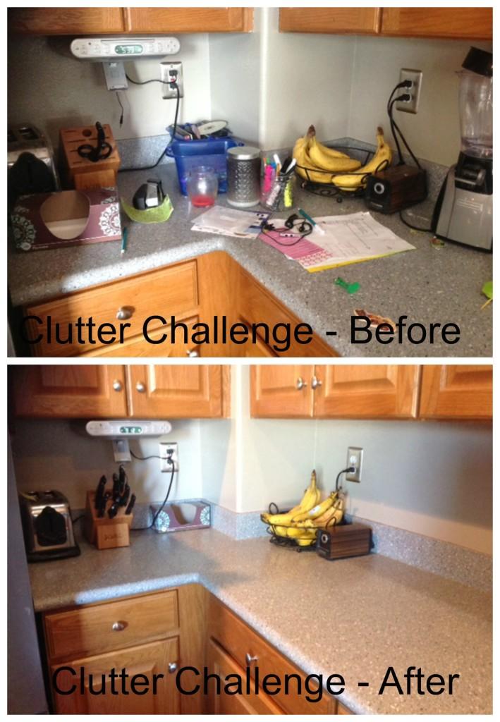 clutter challenge - kitchen corner