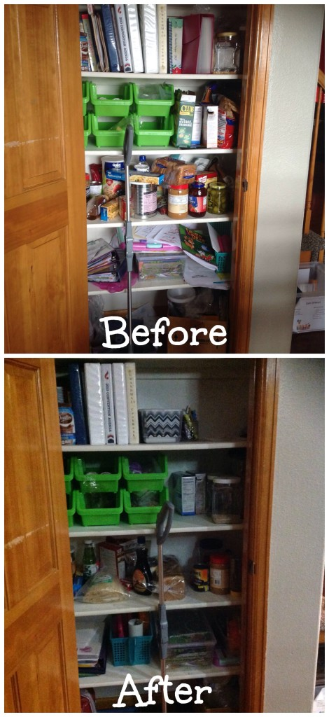 Organized pantry space