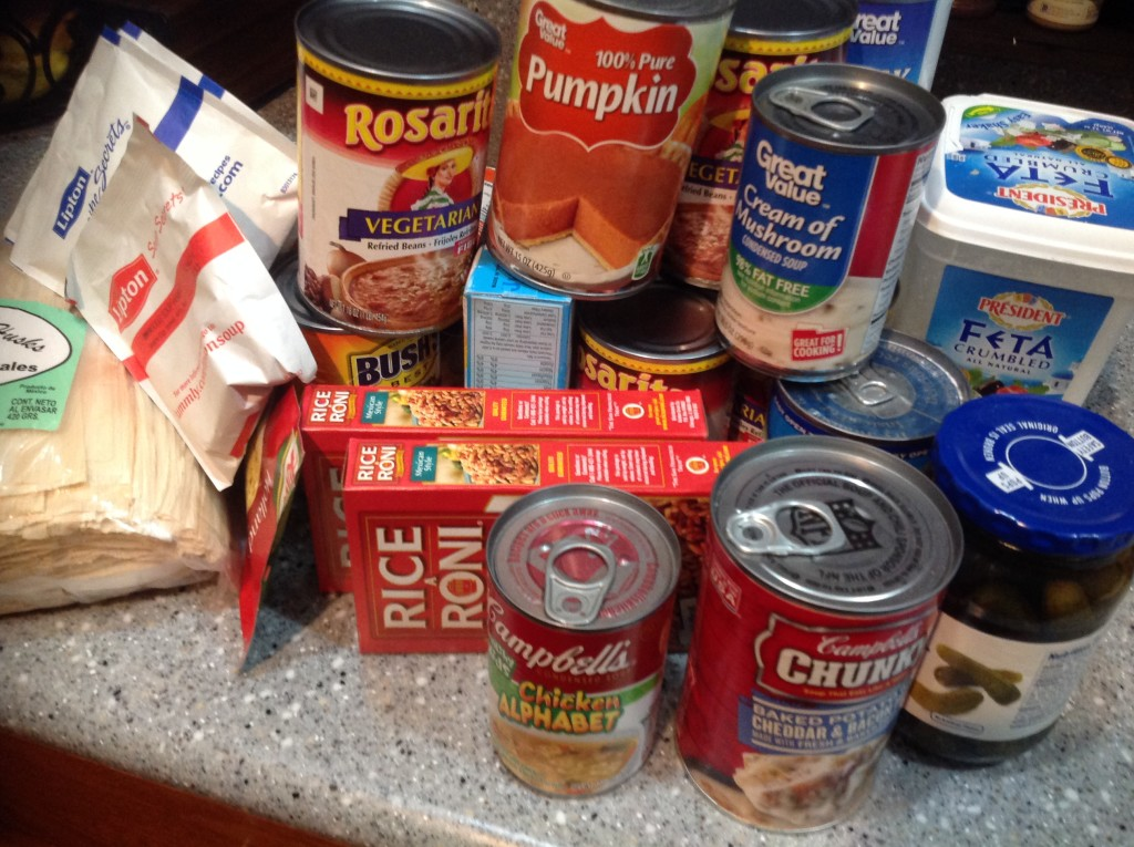 using food from the pantry to save on grocery bills