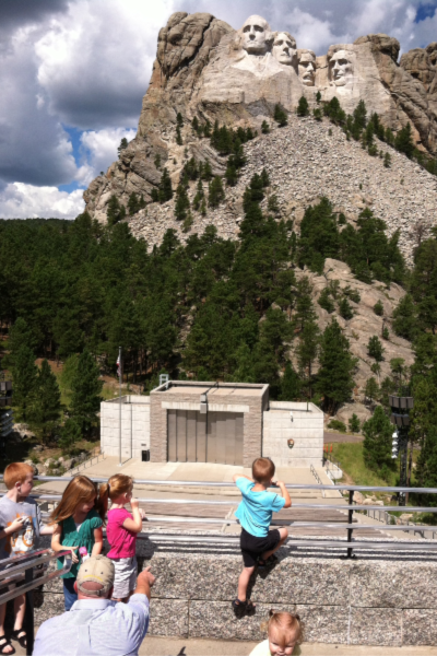 Family trip to Mount Rushmore