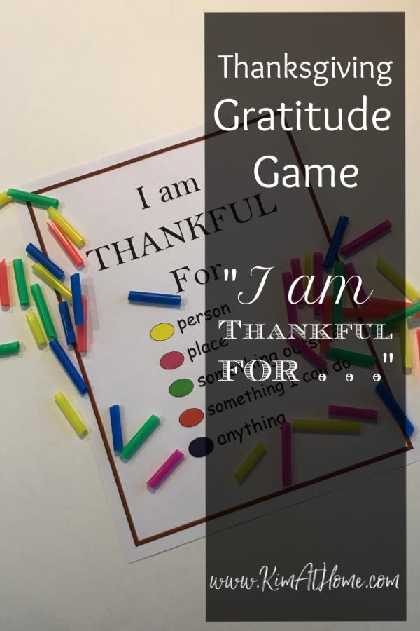Thanksgiving Game/Gratitude Game