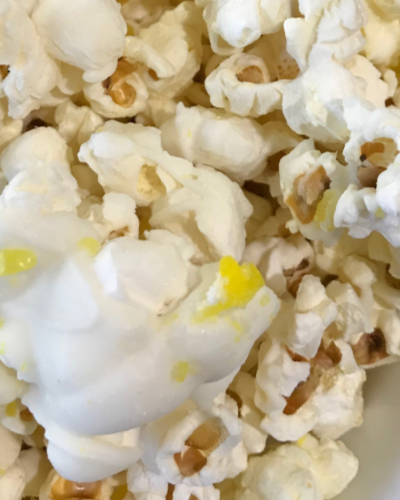 Recipe:  Lemon White Chocolate Popcorn