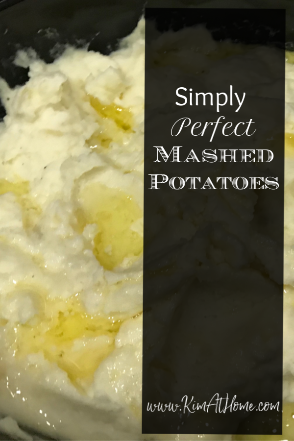 simply perfect mashed potatoes