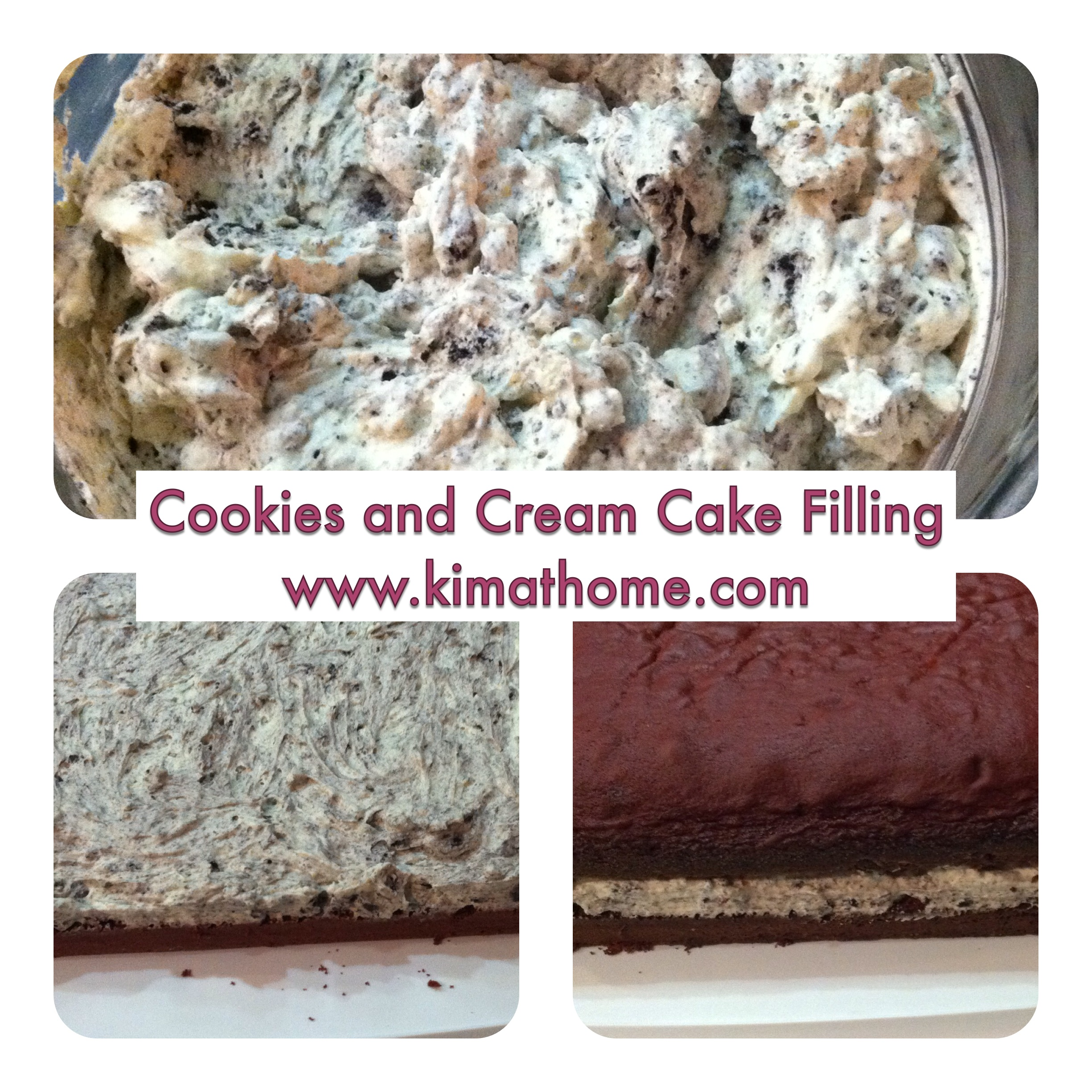 Cookies and Cream Cake Filling